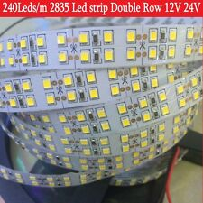 12V 24V Double Row Led strip SMD 2835 5m 1200Led flexible rope tape ribbon light