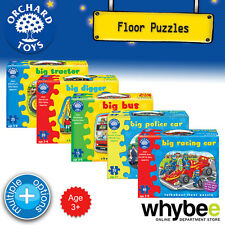 New! Orchard Toys Shaped Floor Puzzles Jigsaws - Vehicle Theme - Boys Childrens