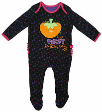 Girls Romper All In One Outfit Pumpkin My First Halloween Tiny Baby to 12 Months