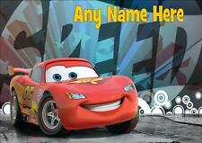 DISNEY CARS LIGHTENING MCQUEEN PERSONALISED PLACEMAT