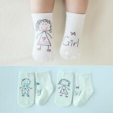 New Baby Socks Newborn Cotton Boys Girls Toddler Lovely Anti-slip Socks 0-4Y