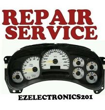 GM GMC CHEVROLET INSTRUMENT CLUSTER REPAIR SERVICE 2003 2006