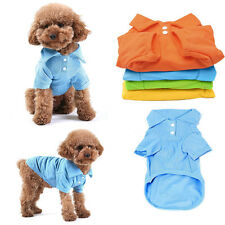 Cute NWT Pet Doggy Apparel Dog Polo Cool Puppy T-Shirts Clothes Size XS S M L