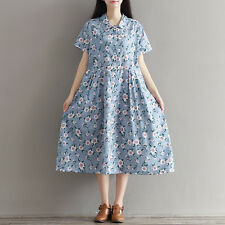 Japanese Sweet Vintage Mori Girl Sweet Preppy Style Cotton Floral Summer Dress