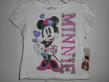 Disney Minnie Mouse Shirt Short sleeve white Toddler Girls Various sizes NWT