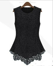 Tank Tops Summer Women Casual New Vest Sleeveless Lace T-Shirt Fashion Blouse