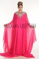 NEW JALABIYA ISLAMIC GEORGETTE FANCY  CAFTAN WEDDING GOWN MODERN DRESS  4169