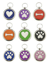 Premium Personalised Engraved Pet id Tags DOG Disc Quality Puppy Cat id Tags