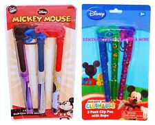 Disney Mickey Mouse Clip Pens With Rope 3pk School Party Favors School Supplies
