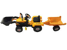 Child`s Ride on Pedal Tractor/Trailer and Front Loader Boys Kids Toy