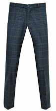 Relco Men's Blue Tweed Sta Press Stay Pressed Mod Skins Ideal For Golf Trousers