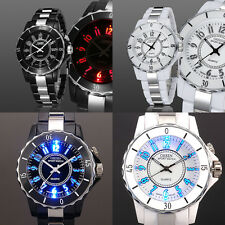 Cool OHSEN Mens 7 Modes Lights Black White 12 hours Sport Wrist Watch Gift New