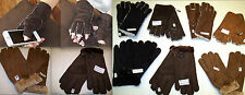 FAUX SUEDE FASHION GLOVES & FINGERTIP-FREE GLOVES FLEECE LINING GIRLS LADIES NWT