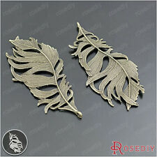 5PCS 86*41MM Zinc Alloy Big Feathers Pendants Jewelry Findings Accessories 28903