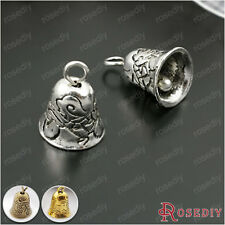 10PCS 9*9MM Zinc Alloy Bell Charms Pendants Jewelry Findings Accessories 27928