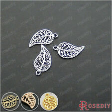 50PCS 16*10MM Zinc Alloy Leaves Charms Jewelry Findings Accessories 24973