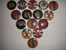 Blackhawks flat back buttons or pin badges cabochons embellishments centers bow