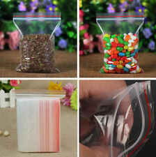 100/500Pcs Resealable Reclosable Zip Lock Plastic Seal Ziplock Storage Bag Clear