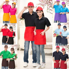 Bow Half Waist Pocket Bar Cafe Cooking Waiter Restaurant Bib Dress Apron 6Colors