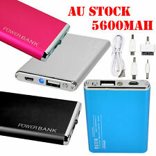 AU 5600mAh Power Bank USB LED Portable Battery Charger For iPhone Samsung 2016