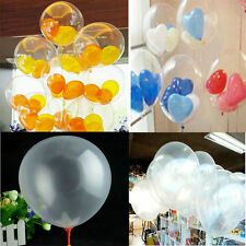 "Latex Wholesale 100pcs Transparent Balloons Birthday Wedding Party Decor 10"" CHI"
