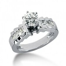 1.90CT Certified Women's Round Brilliant Cut Diamond Engagement Ring 14kt