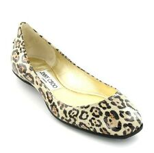 Jimmy Choo WITTY Patent Glitter Leopard Logo Sexy Flats EU 36 I LOVE SHOES