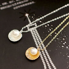 Shell Bead Clavicle Necklace Metal Chain Fashion Jewelry Pendant Necklaces BD