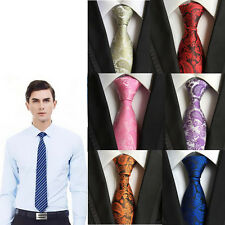 New Classic Scarves Slim Necktie Jacquard Woven Tie Fashion Silk Wedding Men's
