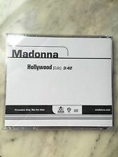 "RARE MADONNA US  1-TRACK PROMO  CD ""HOLLYWOOD""  NEW"