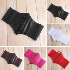 Fashion Women Lady Corset Belt Waist Cincher Wide Band Elastic Stretch Waistband