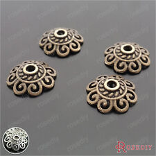 100PCS 12MM Zinc Alloy Curl cloud Bead Caps Jewelry Findings Accessories 29354