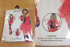 """SALE"" Smiffys Adult Fever Lady Bug Fairytale Fancy Dress 31101 UK 8-10 Free P&P"