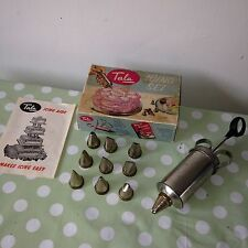 Vintage Tala Icing & Food Decorating Set Retro Boxed Syringe Made in ENGLAND