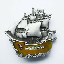 Buckle Pirate Ship Warship Boat Belt Buckle Gurtelschnalle Boucle de ceinture