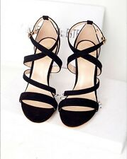 New Womens High Heels Sandals Metal Heels Ankle Strap Pumps Sexy Stiletto Shoes