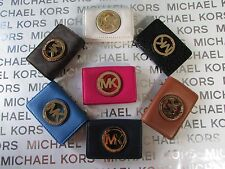 NWT Michael Kors Leather Fulton Leather or PVC Card Case Wallet