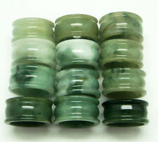NATURAL TRANSLUCENT GREEN & MULTI-COLOR JADEITE JADE RING : SIZE 9 - 10.5 US