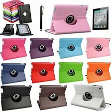 360° Rotating Leather Smart Cover Hard Back Case Sleep/Wake For Apple iPad New