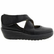 Fly London Rafe 657 Fly Mousse Wedge Black Womens Shoes