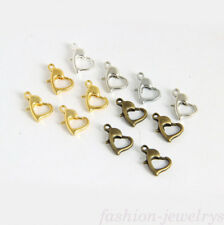 Lots Top 20/50X Silver/Gold Plated Heart Lobster Clasp Hook Connector Finding