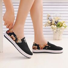Nice College Student Style Causal Canvas Shoes Comfort Flat Heel Girl Espadrille