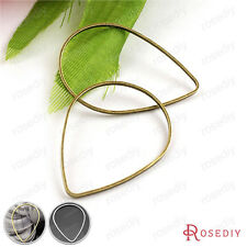 50PCS 30*21MM Brass Drop Shape Closed Rings Jewelry Findings Accessories 25771