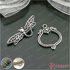 10 Sets Dragonfly Bracelet Toggle Clasps Jewelry Findings Accessories 26903