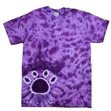 Paw Tie Dye Tee, Purple, Kids Youth XS (2-4) to Youth L (14-16), 100% Cotton