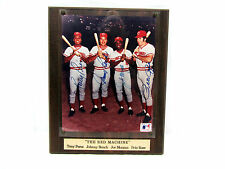 """ THE RED MACHINE "" TONY PEREZ JOHNNY BENCH JOE MORGAN PETE ROSE SIGNED PLAQUE"
