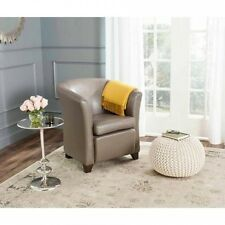 Safavieh Lorraine Bicast Leather Upholstered Birchwood Tub Chair, Multiple Colou