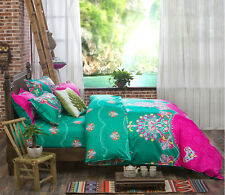 Green Bohemian Oriental Mandala Bed Quilt Duvet Cover Set Single Queen King Size