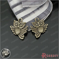 30PCS 20*17MM Zinc Alloy Owl Charms Pendants Jewelry Findings Accessories 23360