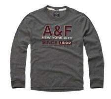 Nwt Abercrombie & Fitch Mens Long Sleeve Tee T Shirt Dark Gray